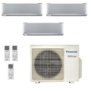 Panasonic Condizionatore Trial Split Gas R-32 Serie XZ Etherea Argento 9000+9000+9000 Btu CU-3Z52TBE WiFi Opzionale A+++/A+ P...