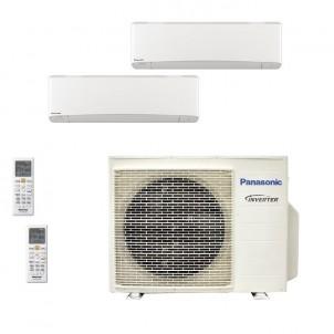 Panasonic Condizionatore Dual Split Gas R-32 Serie Z Etherea Bianco 12000+12000 Btu CU-3Z68TBE WiFi Opzionale A++/A