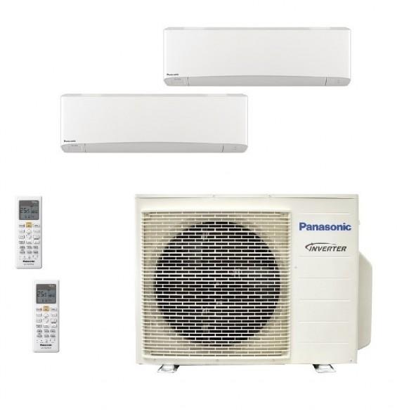 Panasonic Condizionatore Dual Split Gas R-32 Serie Z Etherea Bianco 12000+15000 Btu CU-3Z68TBE WiFi Opzionale A++/A Panasonic