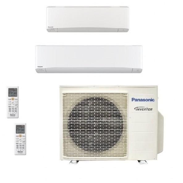 Panasonic Condizionatore Dual Split Gas R-32 Serie Z Etherea Bianco 12000+18000 Btu CU-3Z68TBE WiFi Opzionale A++/A Panasonic