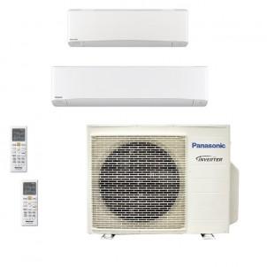 Panasonic Condizionatore Dual Split Gas R-32 Serie Z Etherea Bianco 12000+18000 Btu CU-3Z68TBE WiFi Opzionale A++/A