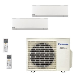 Panasonic Condizionatore Dual Split Gas R-32 Serie Z Etherea Bianco 15000+15000 Btu CU-3Z68TBE WiFi Opzionale A++/A Panasonic
