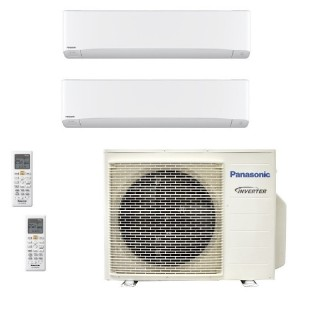 Panasonic Condizionatore Dual Split Gas R-32 Serie Z Etherea Bianco 18000+18000 Btu CU-3Z68TBE WiFi Opzionale A++/A Panasonic