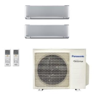 Panasonic Condizionatore Dual Split Gas R-32 Serie XZ Etherea Argento 12000+12000 Btu CU-3Z68TBE WiFi Opzionale A++/A Panasonic