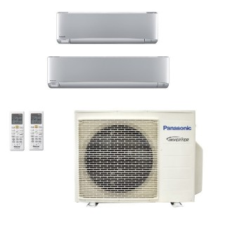 Panasonic Condizionatore Dual Split Gas R-32 Serie XZ Etherea Argento 12000+18000 Btu CU-3Z68TBE WiFi Opzionale A++/A Panasonic