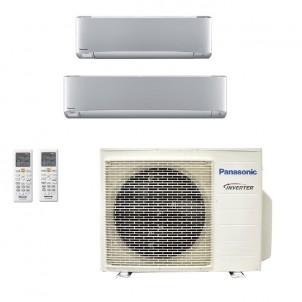 Panasonic Condizionatore Dual Split Gas R-32 Serie XZ Etherea Argento 12000+18000 Btu CU-3Z68TBE WiFi Opzionale A++/A