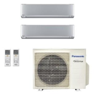 Panasonic Condizionatore Dual Split Gas R-32 Serie XZ Etherea Argento 18000+18000 Btu CU-3Z68TBE WiFi Opzionale A++/A Panasonic