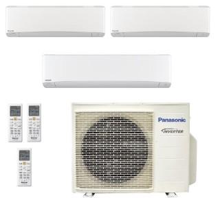 Panasonic Condizionatore Trial Split Gas R-32 Serie Z Etherea Bianco 7000+7000+18000 Btu CU-3Z68TBE WiFi Opzionale A++/A+ Pan...
