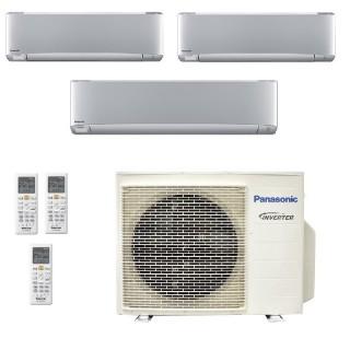 Panasonic Condizionatore Trial Split Gas R-32 Serie XZ Etherea Argento 9000+12000+18000 Btu CU-3Z68TBE WiFi Opzionale A++/A+ ...