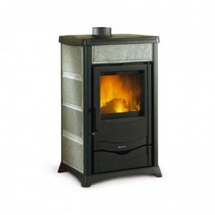 La Nordica Stufa a Legna serie Armony Rossella Plus rivestimento esterno in colore pietra naturale 7112262