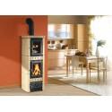 La Nordica Stufa a Legna serie Armony Gaia Forno rivestimento in maiolica colore bordeaux 7116400 La Nordica Extraflame