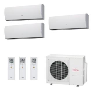 Fujitsu Condizionatore Trial Split Parete Gas R410A Serie LU 9+9+9 Btu ASYG09LUCA ASYG09LUCA ASYG09LUCA AOYG24LAT3 A++/A+ Fuj...