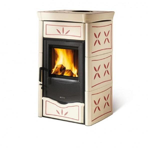 La Nordica Stufa a Legna serie Armony Nicoletta rivestimento in maiolica colore ametista 7116179 La Nordica Extraflame