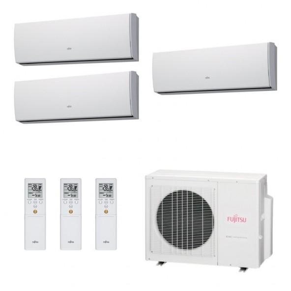 Fujitsu Condizionatore Trial Split Parete Gas R410A Serie LU 9+9+12 Btu ASYG09LUCA ASYG09LUCA ASYG12LUCA AOYG24LAT3 A++/A+ Fu...