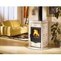La Nordica Stufa a Legna serie Armony Nicoletta rivestimento in maiolica colore bordeaux 7116150 La Nordica Extraflame