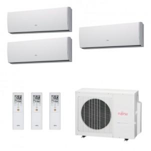 Fujitsu Condizionatore Trial Split Parete Gas R410A Serie LU 12+12+12 Btu ASYG12LUCA ASYG12LUCA ASYG12LUCA AOYG24LAT3 A++/A+