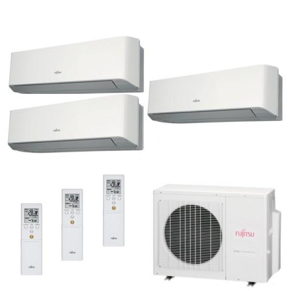 Fujitsu Condizionatore Trial Split Parete Gas R410A Serie LM 7+9+9 Btu ASYG07LMCE ASYG09LMCE ASYG09LMCE AOYG18LAT3 A++/A+ Fuj...