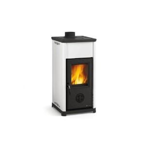 La Nordica Stufa a Legna serie Bruciatutto Tea rivestimento esterno acciaio porcellanato colore bianco 7111810 La Nordica Ext...