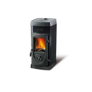 La Nordica Stufa a Legna serie Bruciatutto Super Max rivestimento esterno acciaio smaltato colore Nero 7111086 La Nordica Ext...