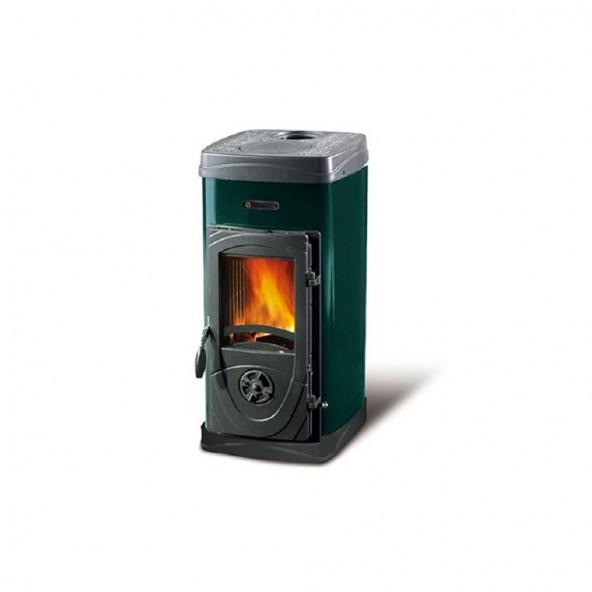 La Nordica Stufa a Legna serie Bruciatutto Super Max rivestimento esterno acciaio smaltato colore Verde 7111082 La Nordica Ex...