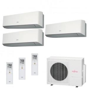 Fujitsu Condizionatore Trial Split Parete Gas R410A Serie LM 9+9+9 Btu ASYG09LMCE ASYG09LMCE ASYG09LMCE AOYG24LAT3 A++/A+