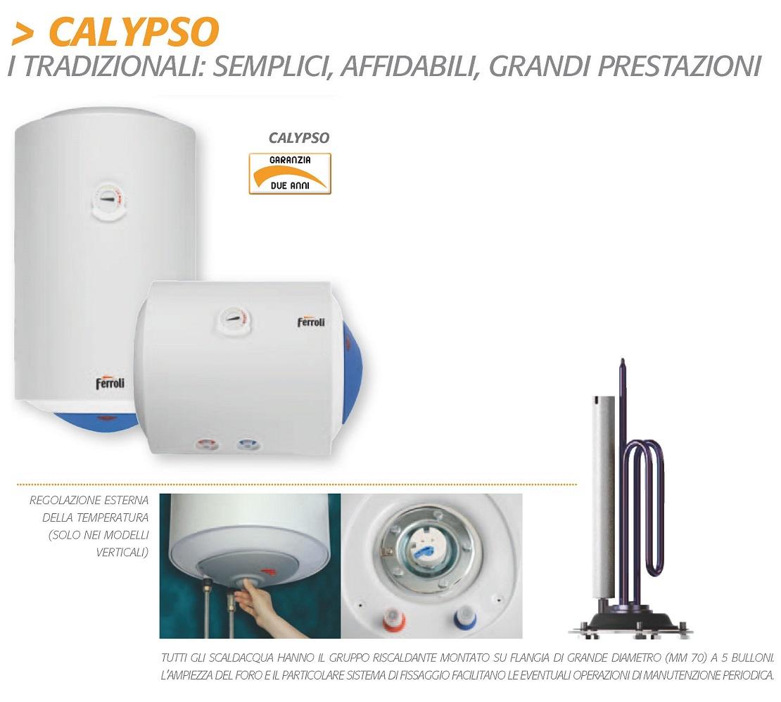 Scaldabagno Elettrico Ferroli Serie Calypso 50 Litri Verticale