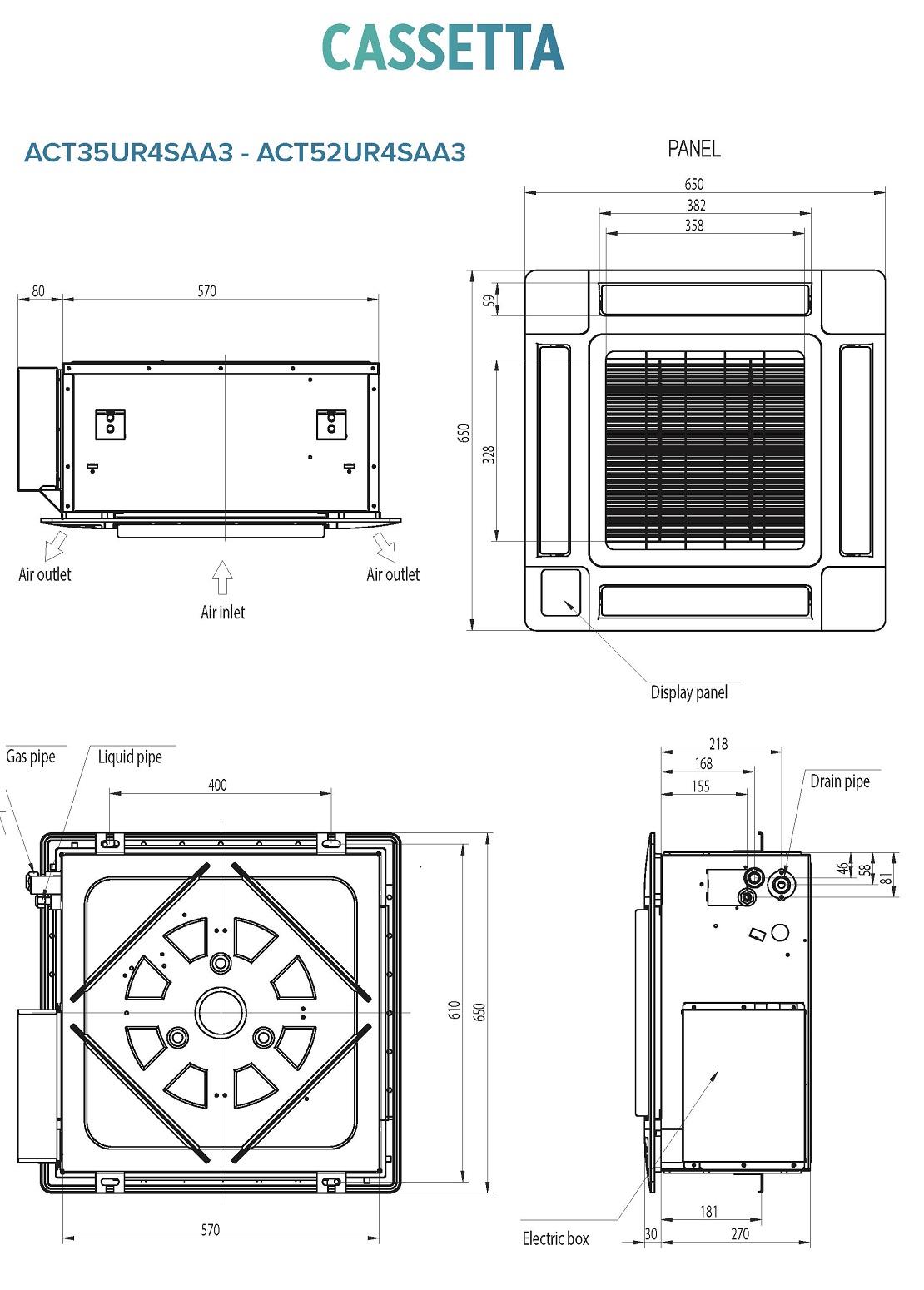 Condizionatore Hisense Commerciale 12000 Btu ACT35UR4SAA3 A++/A+