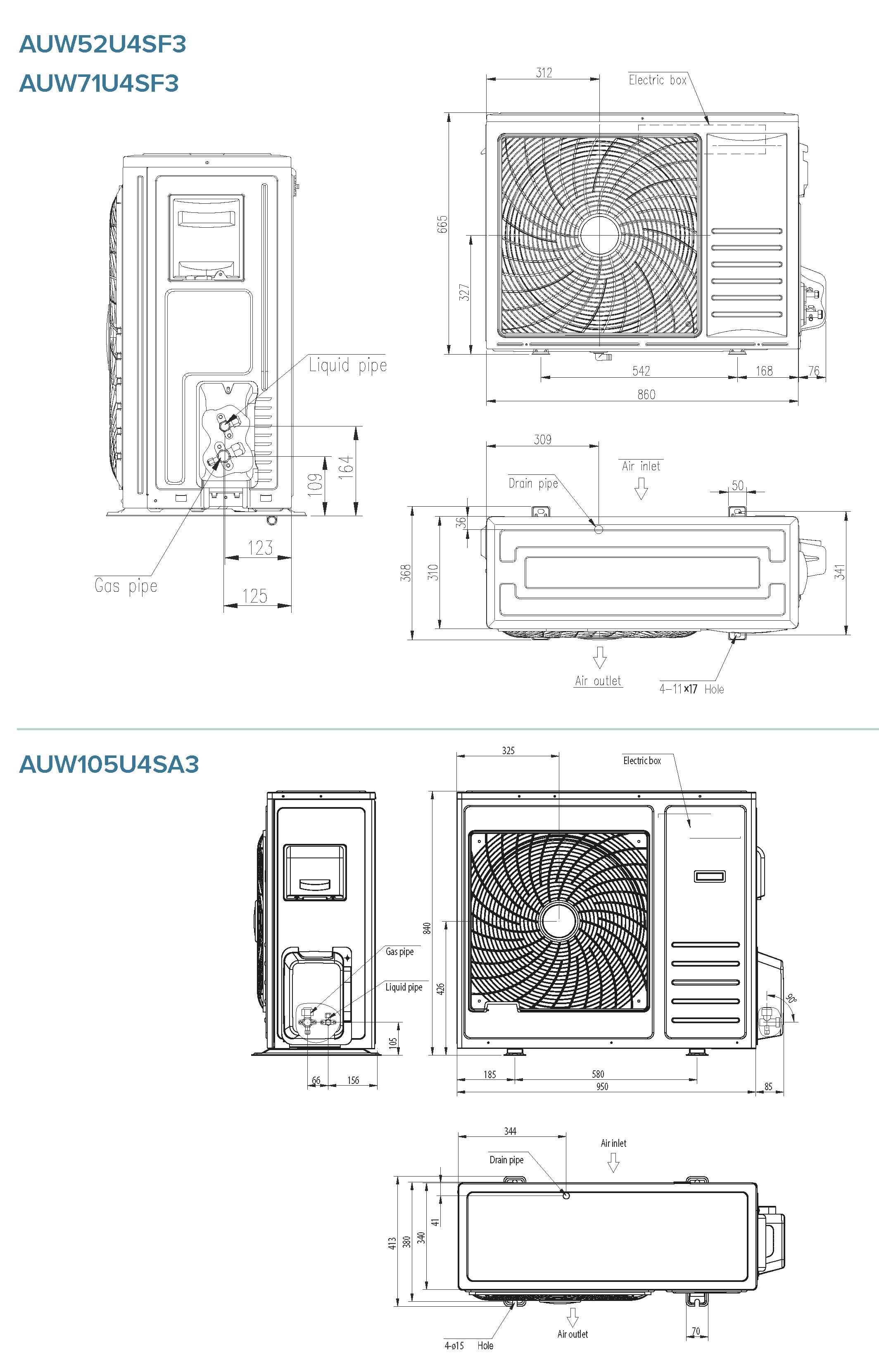 Condizionatore Hisense Commerciale 36000 Btu AUC105UR4SGB3 A++/A+