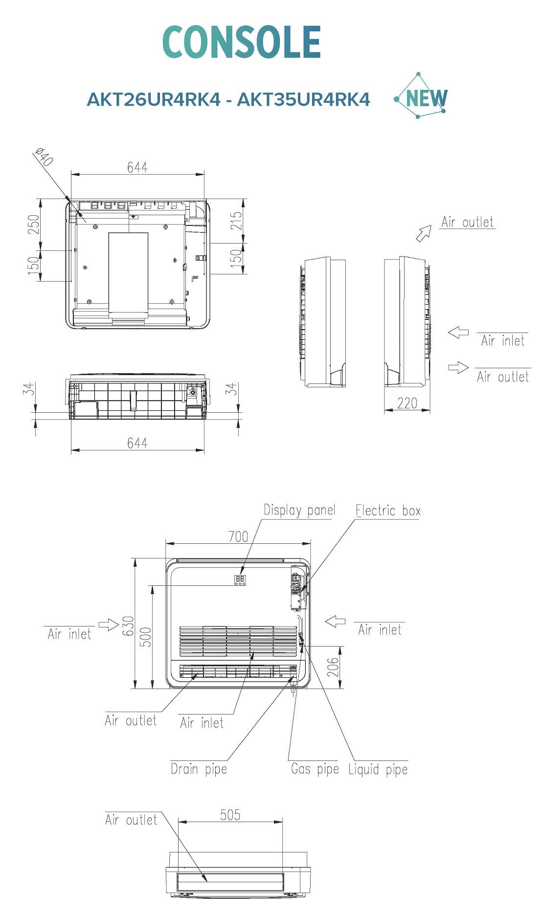 Condizionatore Hisense Commerciale 12000 Btu AKT35UR4RK4 A++/A+
