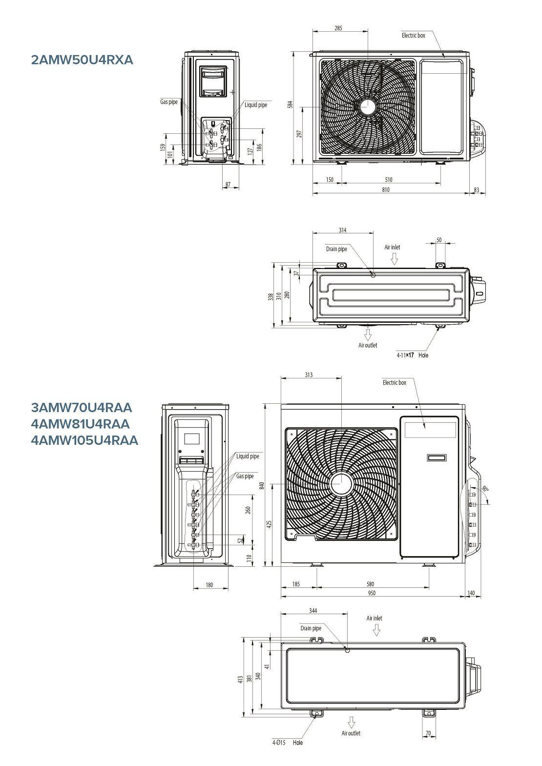 Condizionatore Hisense Dual Split 7000+12000 Btu New Comfort A++/A++