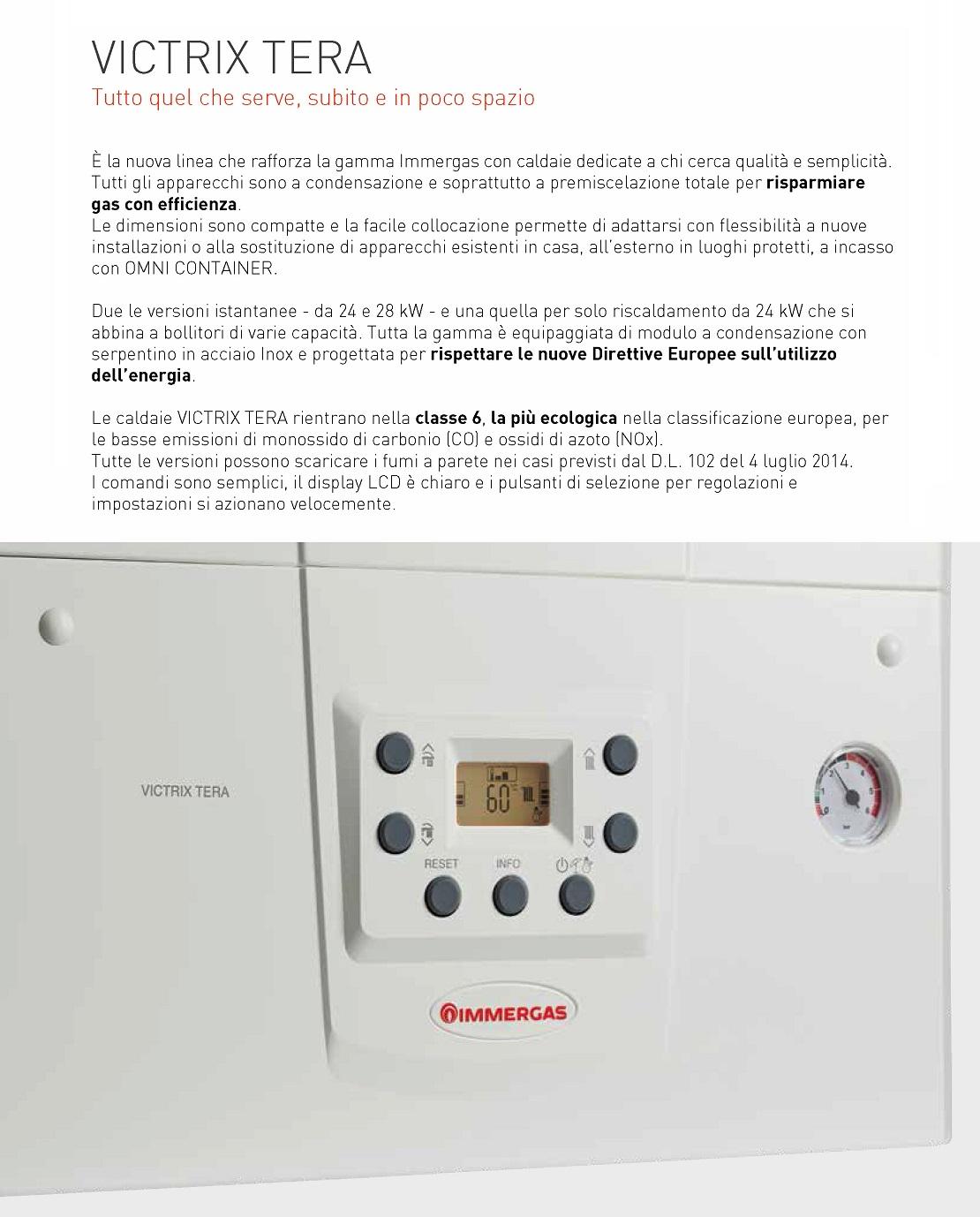 Immergas Caldaia a condensazione Victrix TERA 24 24 kW A/A-XL Metano