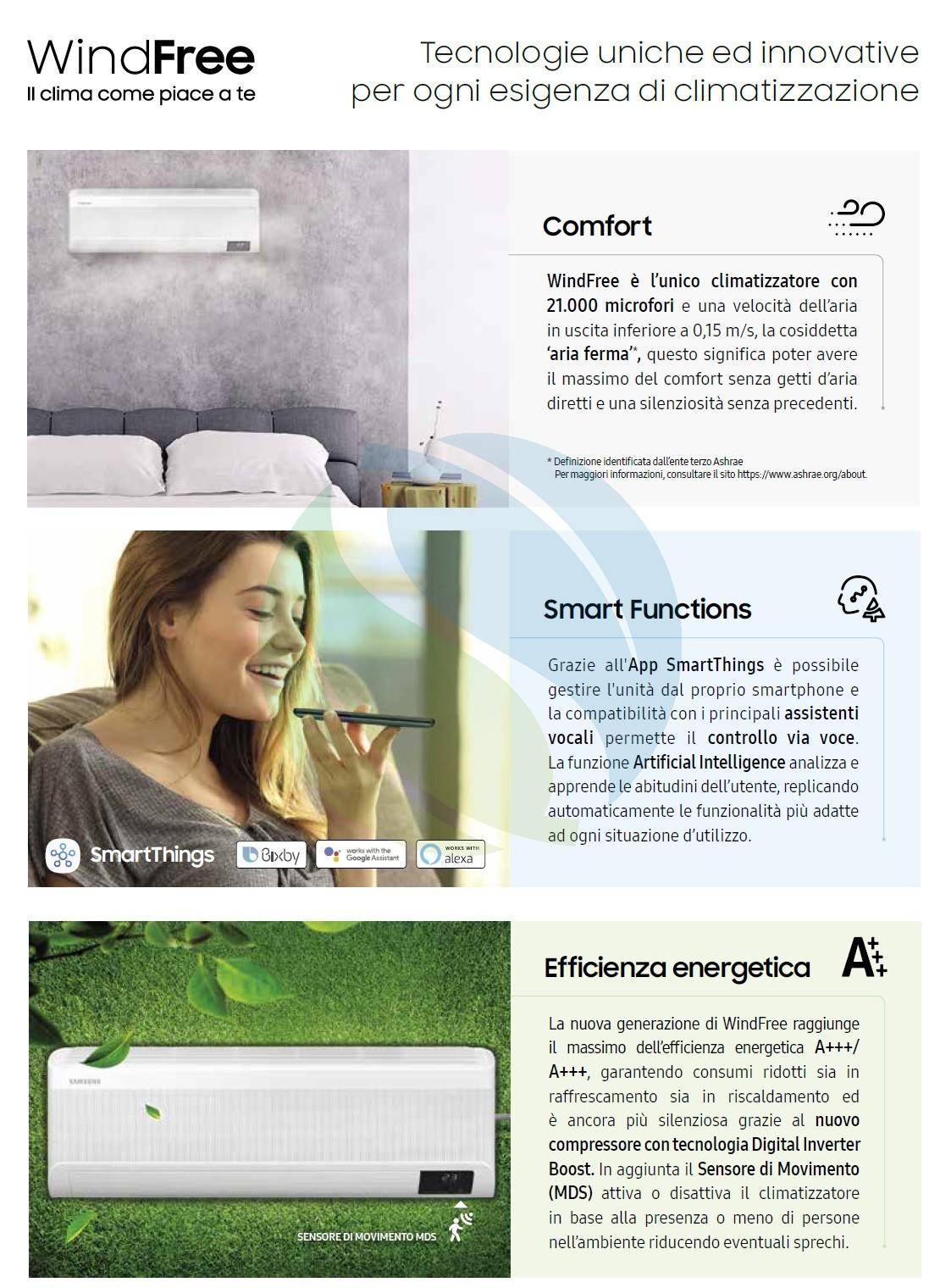 Klimageräte Samsung Mono Split 9000 Btu 2.5 kW A++/A++ F-AR09AVT