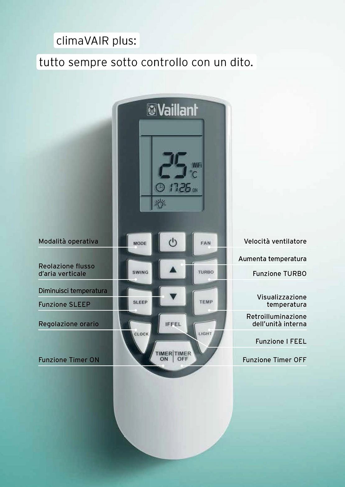 Condizionatore Vaillant Mono Split 24000 Btu Serie VAI 8 A++/A+
