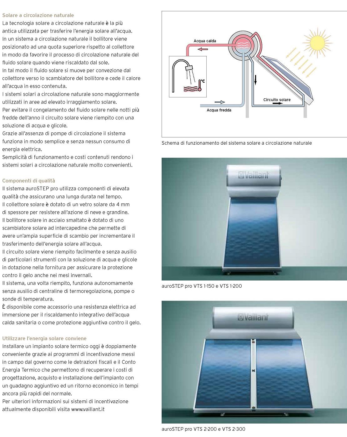 Pannello Solare Termico Vaillant 150 Litri AuroSTEP pro VTS 1-150